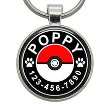 Pet ID Tags - Pokeball (Pokemon) - Dog ID Tags, Cat ID Tags, Pet Tags, D... - $19.99