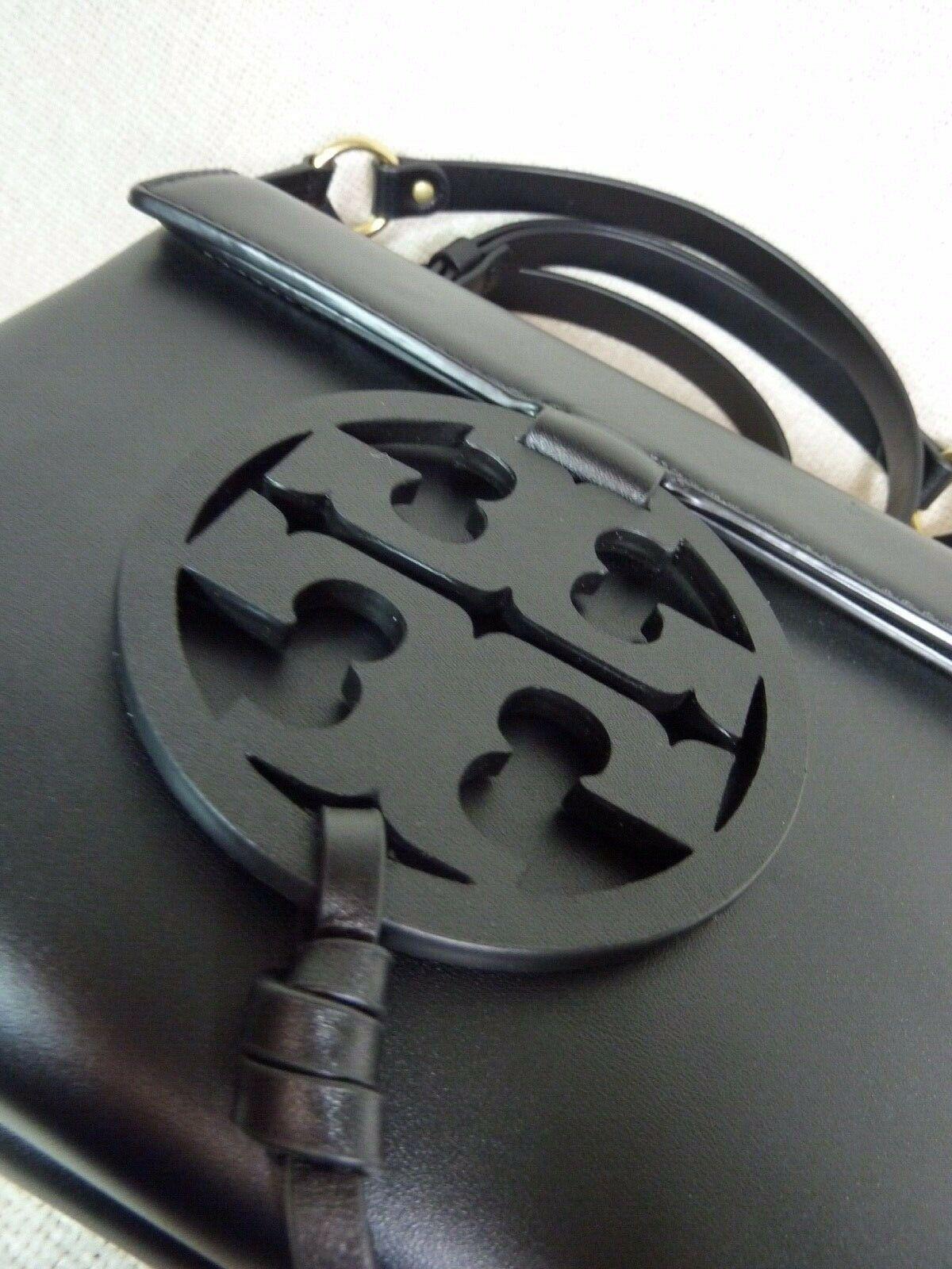 NWT Tory Burch Black Leather Miller Cross-Body Bag $398
