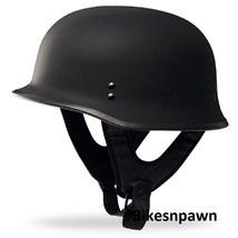 New XS Flat Black Fly Racing DOT Approved German Beanie STyle Motorcycle Helmet image 1