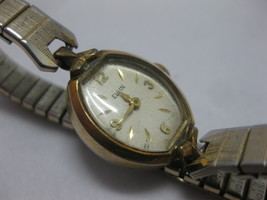 Vintage Elgin 10k R.G.P Ladies Watch Gold Silver Tone Works Fresh Battery - $39.59