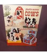 Cows Plastic Canvas 1991 3096 Kitchen Decor Tissue Box Napkin Holder Boo... - $8.99