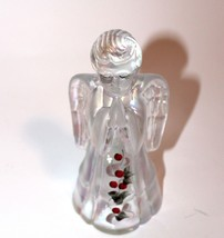 Vintage Handpainted Glass Angel - $19.58