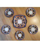 Stunning Vintage Noritake Art Nouveau Floral Lustreware Dessert Cake Set... - $79.15