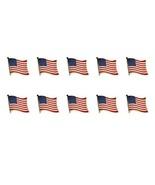 """Lote de 10 Americana Bandera Pins de Solapa 0.5"""" Estados Unidos EE.UU. S... - $12.85"""