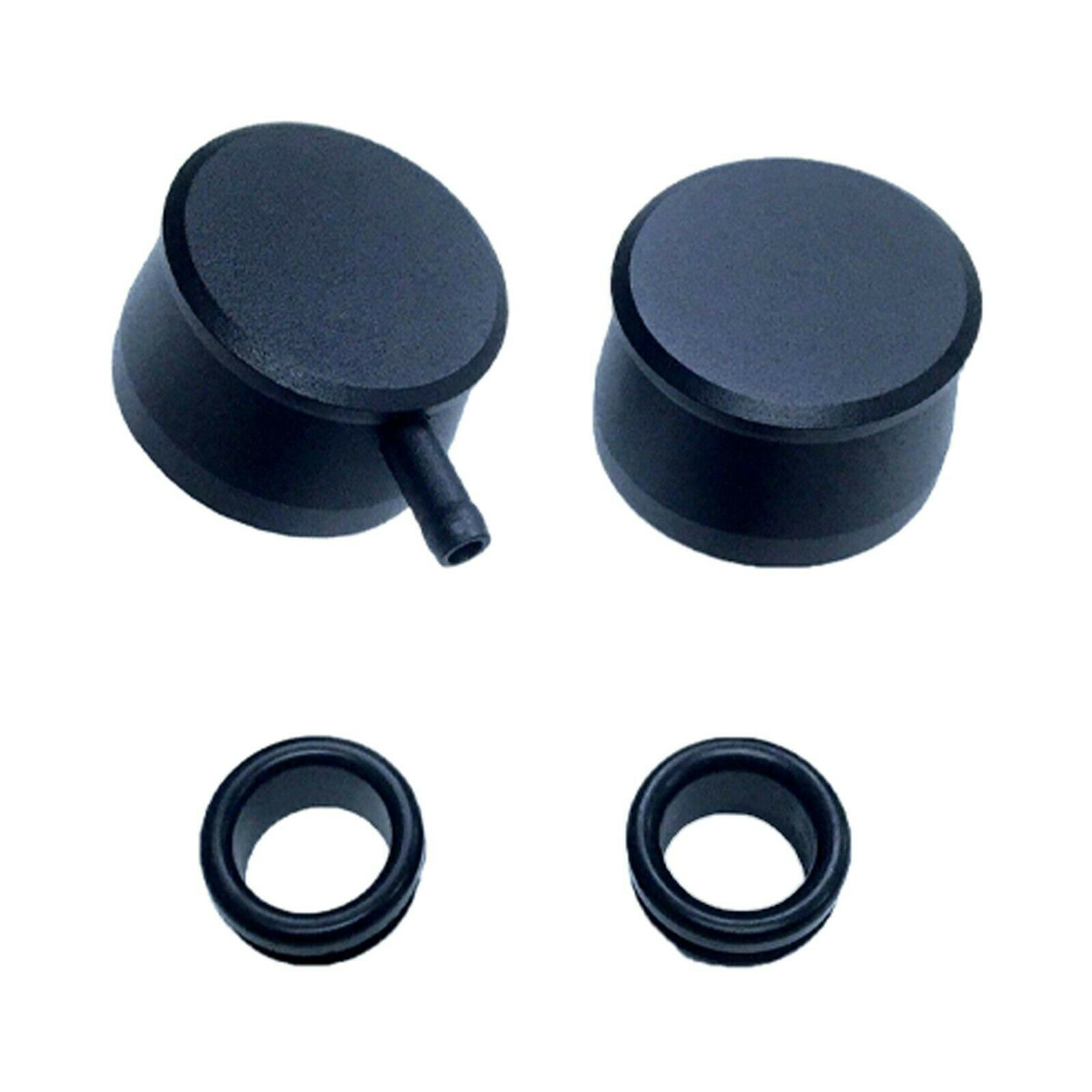 Black Aluminum Breather Set with Grommets Valve Covers