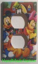 Mickey Minnie Donald Duck Light Switch Power Outlet wall Cover Plate Home decor image 3