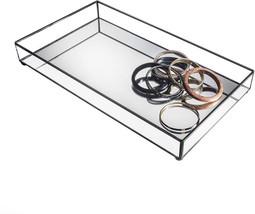 J Devlin TRA 108 Glass Jewelry Tray Vanity Organizer Dresser Tray With M... - $61.26