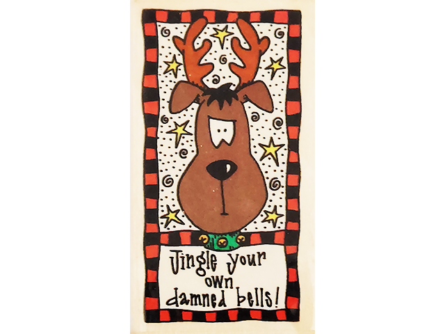 That's All She Stamped Jingle Your Own Bells Wood Mounted Rubber Stamp #TL-PA-80