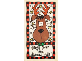 That's All She Stamped Jingle Your Own Bells Wood Mounted Rubber Stamp #TL-PA-80 image 1