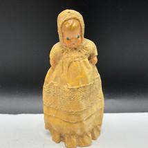 VINTAGE 1979 FIGURINE resin sculpture pilgrim sandy ike spillman baby ye... - $22.77