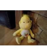 "12"" Care Bear Cousin Playful Heart Monkey Plush Yellow Heart Tummy Party... - $16.00"