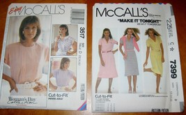 7399 3517 Dress and Pullover blouses pleated front 2 uncut pattern size ... - $10.00