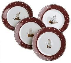 Nikko Ceramics Let It S'more Assorted Dessert/Sandwich Plates, Set of 4 - $47.47