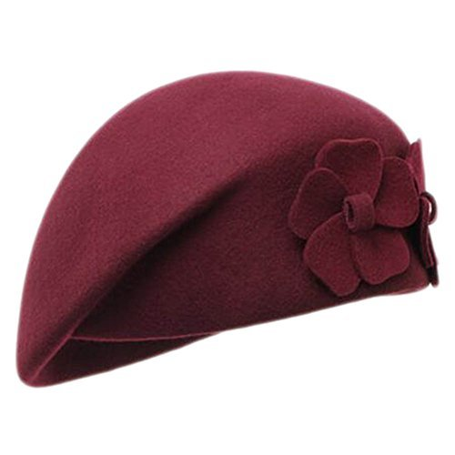 Primary image for George Jimmy British Style Hat Female Fashion Retro Flower Stewardess Beret Cap-