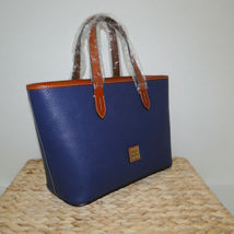 Dooney & Bourke Pebble Leather Brandy Satchel OCEAN BLUE image 4