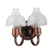 Dollhouse Miniatures 1:12 Scale Led Copper Double Frosted Sconce #HW2328 - $40.99