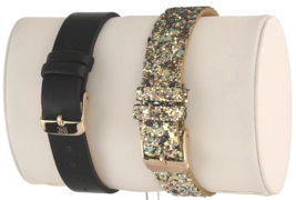 I.N.C. Women's Glitter Faux Leather Strap Watch 36mm with Interchangeable Strap image 3