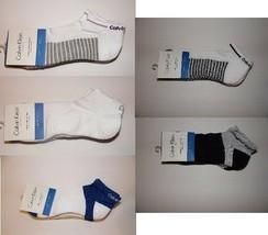 MEN'S CALVIN KLEIN Athletic Cotton Coolpass 3 PAIR CUSHION SOLE SOCKS Si... - $8.39