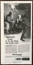 1974 Mercury Outboard Motor Print Ad Father and Son Camping Scene - $10.34