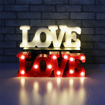 Romantic Small White LOVE Marquee Sign Night Lights - $13.55