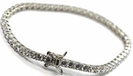 Tennis Bracelet Silver 925, Zircon Cubic White 3 mm, Length 18 CM image 2