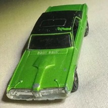2001 '68 Mattel Hot Wheels Cougar Lime Green Sparkle Car Used - $2.00