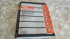 Pontiac 1992 Grand Prix Service Shop Repair Manual Factory OEM Vol. 2 - $12.59