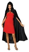 Rubie's Costume Full Length Crushed Velvet Hooded Cape Black One Size Me... - $14.99