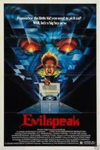 EVILSPEAK Movie Poster Horror 80's Big Box VHS - $6.28+