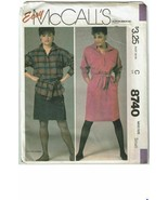 McCalls 8740 Sewing Pattern Misses Dress Tunic Belt Size Small VTG - $9.74