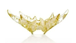 Lalique CHAMPS-ELYSEES Bowl Gold Luster Crystal 1121610 - $3,168.00