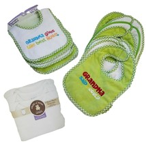 Parents Choice 11 Pak Baby Infant Bibs and 3 Carters 6-12 mo bodysuits  ... - $25.06
