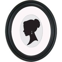 Oval Picture Frames Displayed Horizontally Vertically Satin Black Finish... - $15.83