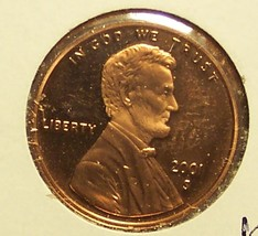 2001-S Proof Lincoln Memorial Penny DCAM #0057 - $3.19