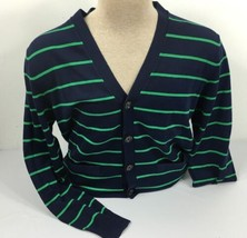 Polo Ralph Lauren Golf Cardigan Mens Sweater XS Pima Cotton Blue Green - $80.19