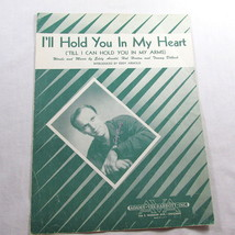 I'll Hold You In My Heart Sheet Music Vintage 1947 Eddie Arnold Frame Co... - $14.83