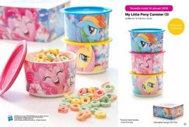 Original 1 Set (3 Pcs) Tupperware My Little Pony Canister Special Editio... - $48.99