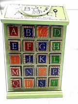 """Vintage Disney Toy Wooden Blocks """"Winnie the Pooh""""  QTY 40 Pictures  ABC  - $44.64"""