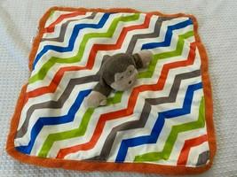 Baby Starters Sicurezza Coperta Scimmia Sonaglino a Righe Lovey Minky - $14.09