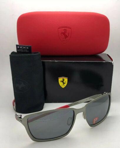 Polarisiert Oakley Sonnenbrille Scuderia Ferrari Tincan OO4082-09 Schwarz Chrom image 10