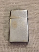 1973 Zippo Lighter Silver Tone Plain No Design Narrow I Made in the USA - $34.64