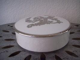 Mikasa Decorative Trinket Box w/ Lid Silver 25th Anniversary Japan L5525 Floral - $19.95