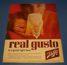 Vintage 1962 Schlitz Beer Original Print Ad - Full Page Color - $7.60