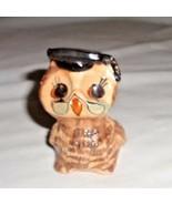 Alabaster Owl in Glasses - $3.79