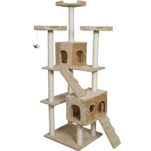 "70"" Condo Sisal-Covered Scratching Posts Cat Tree-Beige - £93.90 GBP"