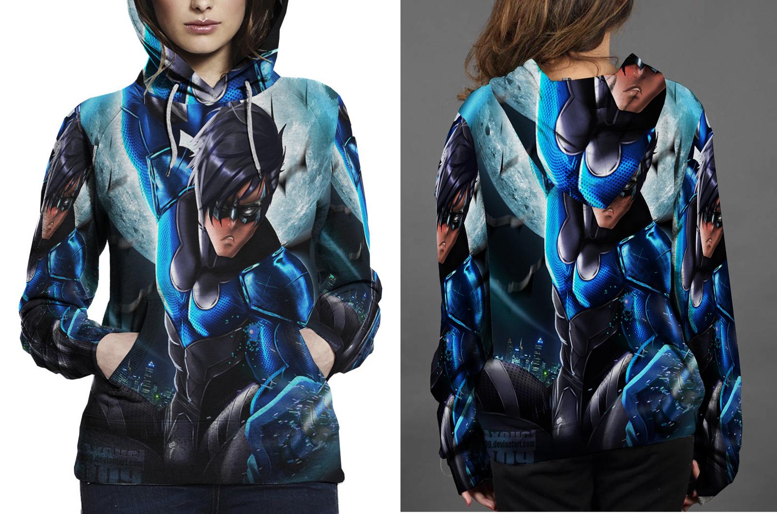Nightwing hero hoodie women s