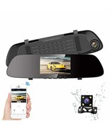 "HQBKING Mirror Dash Cam Backup Camera 4.3"" TFT LCD Stream Media Dual Len... - $89.09"
