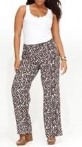 INC International Concepts Woman Pants Sz 18W Brown White Diamond Vine C... - $37.35