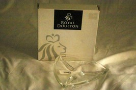 "Royal Doulton 2005 Contempo Triangular Crystal Plate In Box 7 3/4"" - $20.78"