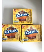 3 Maple Creme OREO Golden Sandwich Cookie Limited Edition 12.2oz Bb 2/21 - $29.99